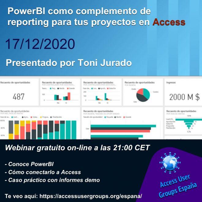 PowerBI como complemento de reporting para tus proyectos en ACCESS