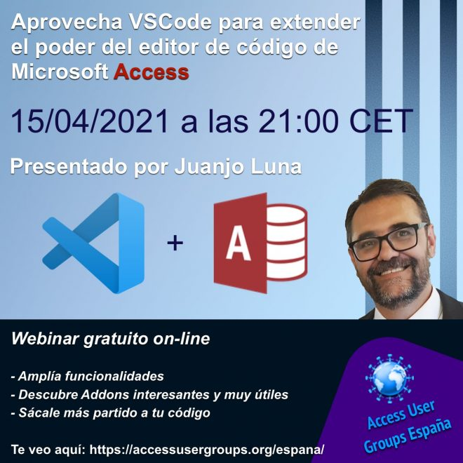 Aprovecha VSCode para extender el poder del editor de código de Access