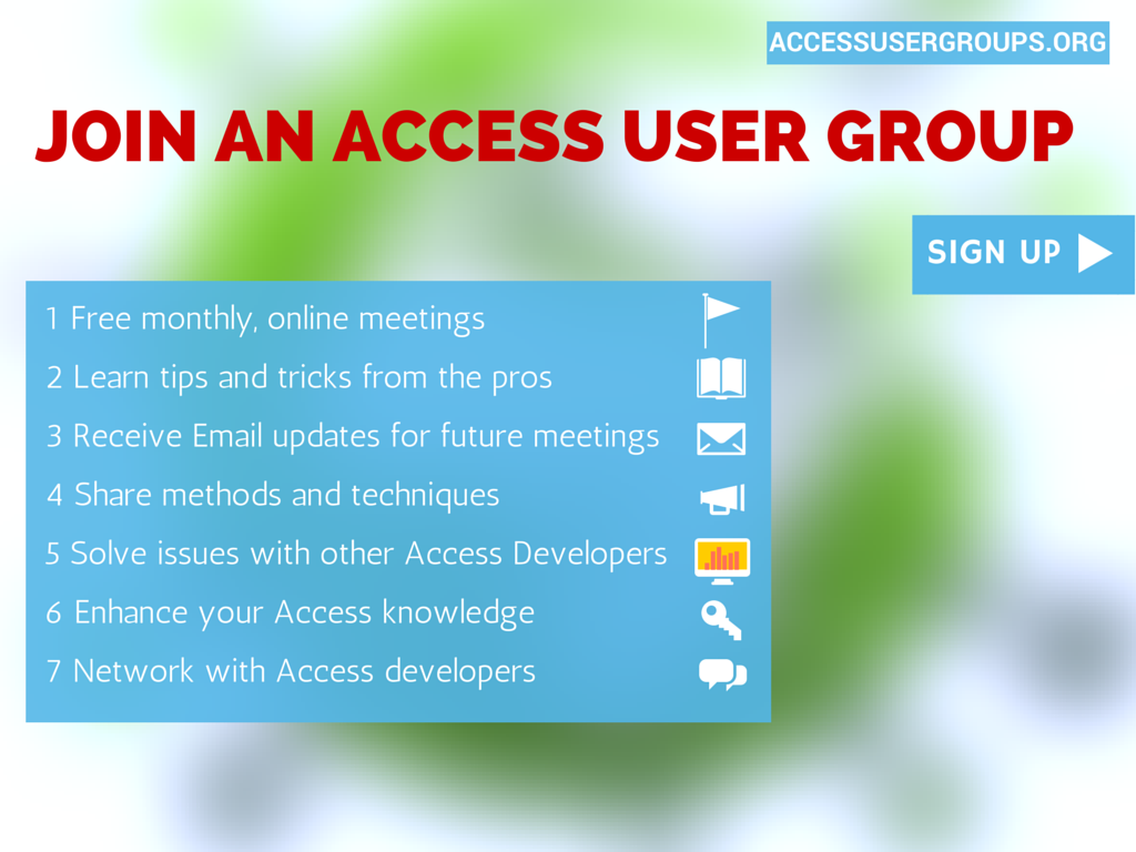 why join an Access User Group- (1)