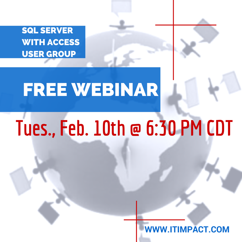 Access with SQL Server AUG Feb 10